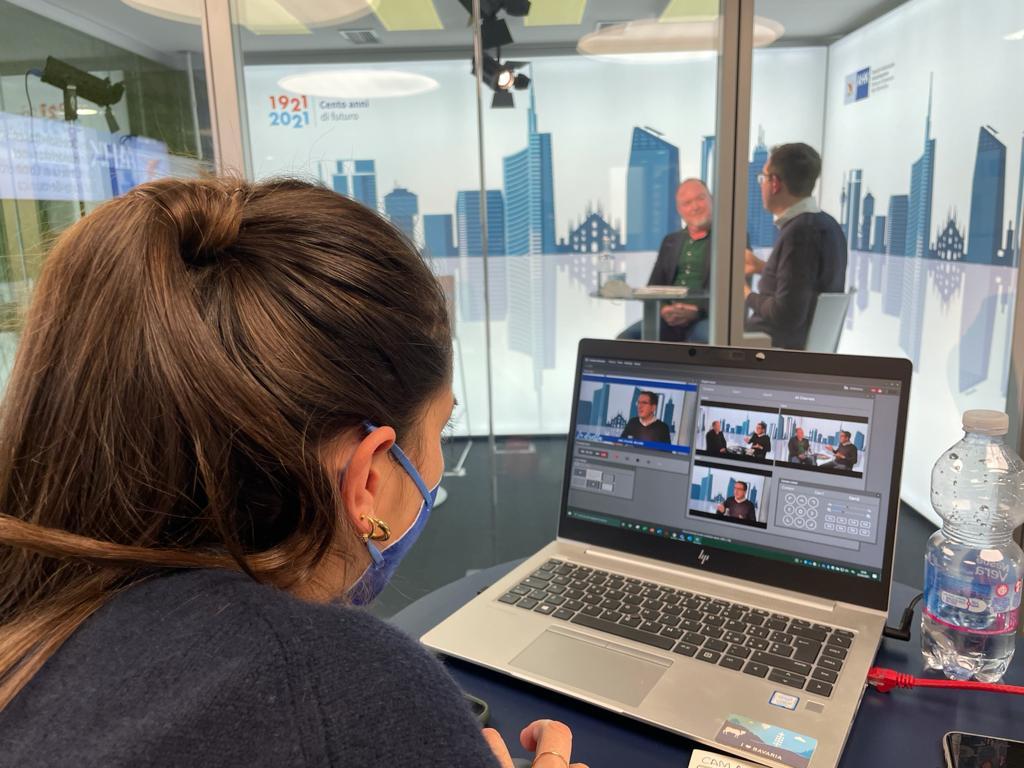 Camera di Commercio Italo-Germanica - hub di live streaming realizzato da Tecnosound