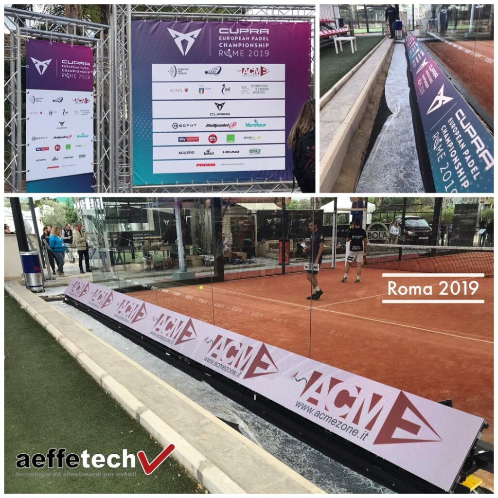 Allestimento evento sportivo LED wall Absen Aeffetech