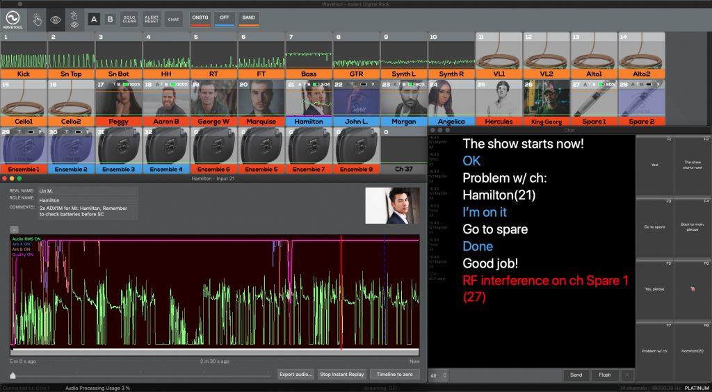 Uno screenshot di Wavetool - distribuzione Prase