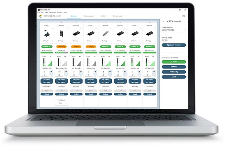 Un nuovo software per Shure MXW
